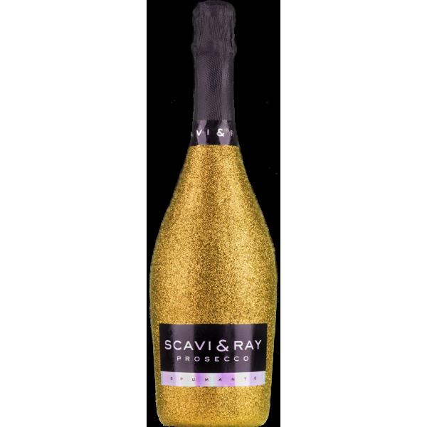 Scavi & Ray Prosecco Spumante Glitzer Gold Bling Edition 0,75l DOC