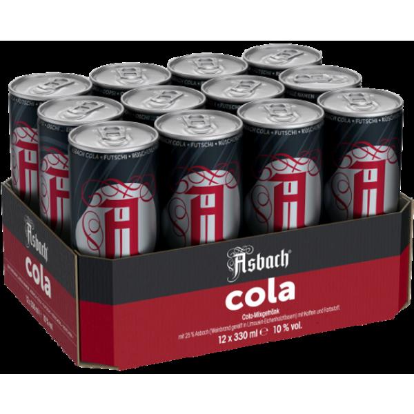 Asbach COOLA - Asbach & Cola 10,0% Vol., (12x 0,33 Liter) Dose