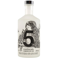 5 continents - Dry Gin - 47% Vol., 0,7 Liter