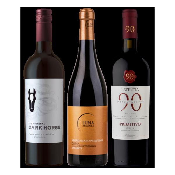 Top-Rotweine im Paket - 3er Set
