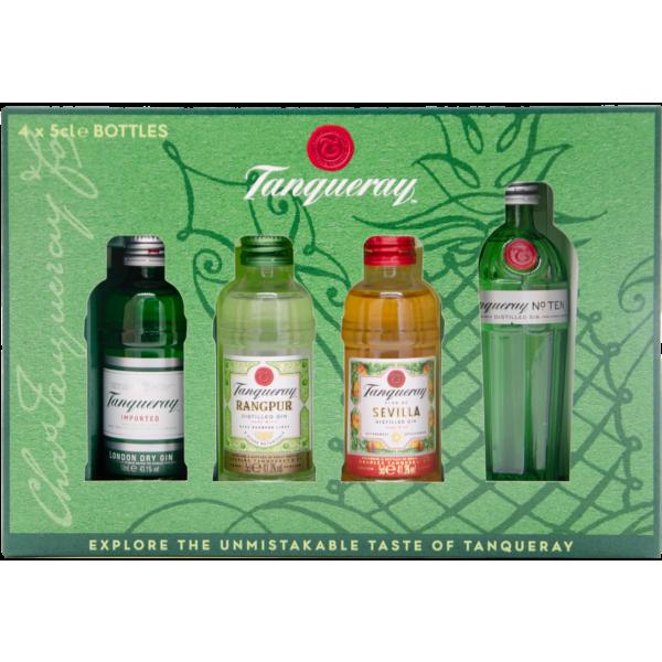 Tanqueray Gin Exploration Set 41,3%-47,3% Vol. (4x 0,05 Liter)