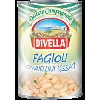 Fagioli Cannellini Lessati (Weiße Bohnen) 400 g   Divella